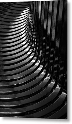 Curved Metal Print by Wendy Wilton