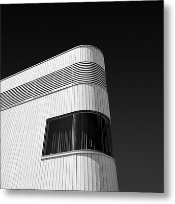 Curved Window Metal Print by Dave Bowman