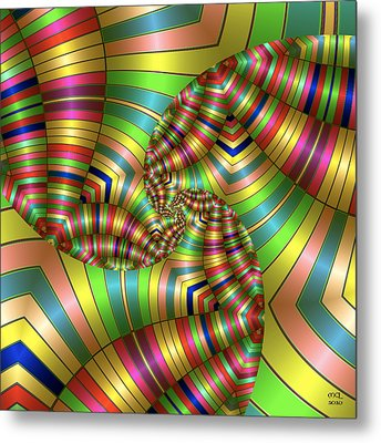 Metal Print featuring the digital art Curves Ahead by Manny Lorenzo