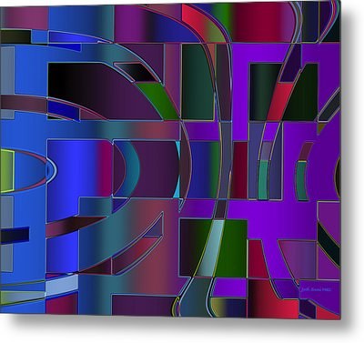 Curves And Trapezoids 2 Metal Print