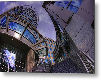 Metal Print featuring the photograph Reflections And Curves by Dennis Baswell
