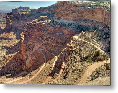 Metal Print featuring the photograph Curves by Wanda Krack
