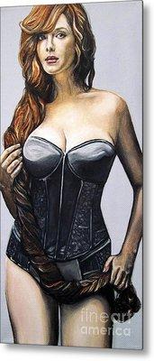 Curvy Beauties - Christina Hendricks Metal Print