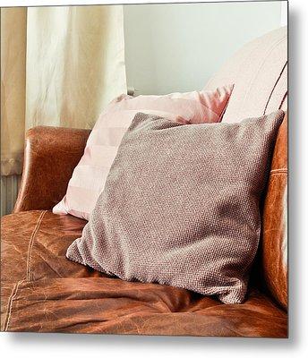 Cushions Metal Print