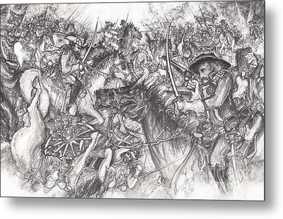 Custer's Clash Metal Print