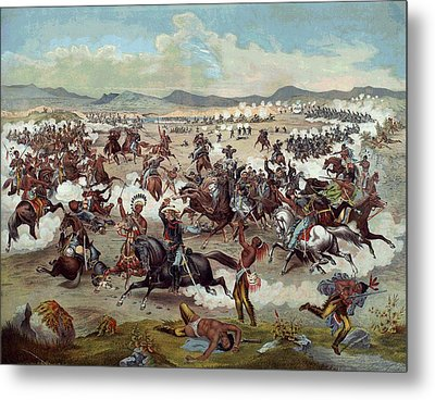 Custer's Last Charge Metal Print by Unknown