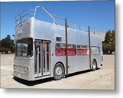 Custom Artistic Double Decker Bus 5d25356 Metal Print by Wingsdomain Art and Photography