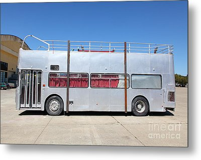 Custom Artistic Double Decker Bus 5d25357 Metal Print by Wingsdomain Art and Photography