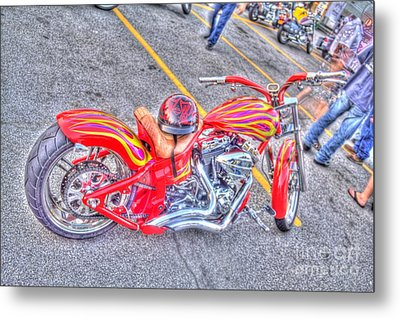 Metal Print featuring the photograph Custom Bike by Jim Lepard