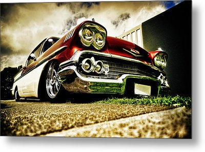 Custom Chevrolet Bel Air Metal Print by motography aka Phil Clark