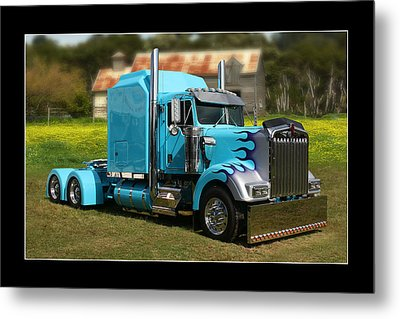 Metal Print featuring the photograph Custom Kenworth by Keith Hawley