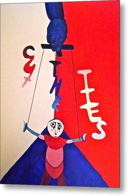 Cut The Ties Metal Print by Jessica Sanders