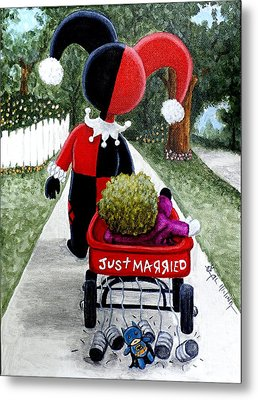 Cute And Crazy Love Metal Print by Al  Molina
