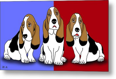 Cute Dogs 2 Metal Print by Mark Ashkenazi