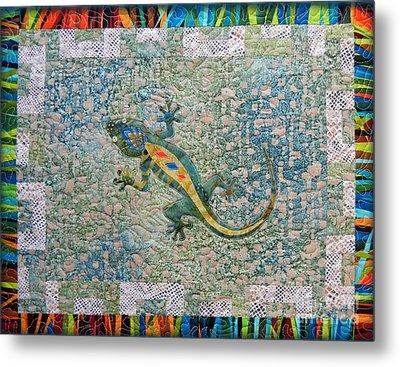 Cute Gecko Metal Print