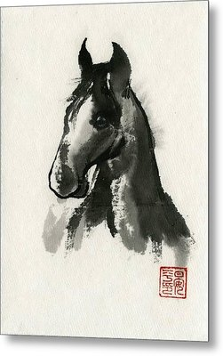 Metal Print featuring the painting Cutie by Ping Yan