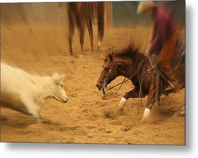 Cutting Horse 8 Metal Print
