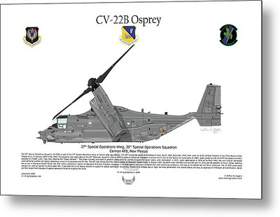 Cv-22b Osprey 20th Sos Metal Print