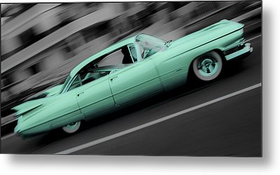 Cyan Caddy Metal Print by Phil 'motography' Clark