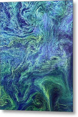 Cyanobacteria Bloom Metal Print by Nasa