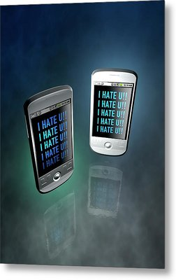 Cyber Bullying Metal Print by Victor Habbick Visions