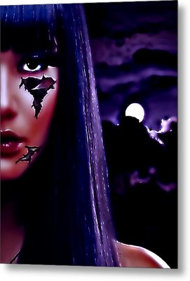 Metal Print featuring the digital art Cyber Love by Persephone Artworks