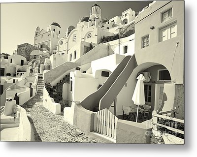 Metal Print featuring the photograph Cycladic Style Houses by Aiolos Greek Collections