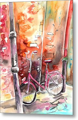 Cycling In Italy 02 Metal Print by Miki De Goodaboom