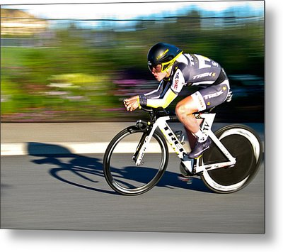 Metal Print featuring the photograph Cycling Prologue by Kevin Desrosiers