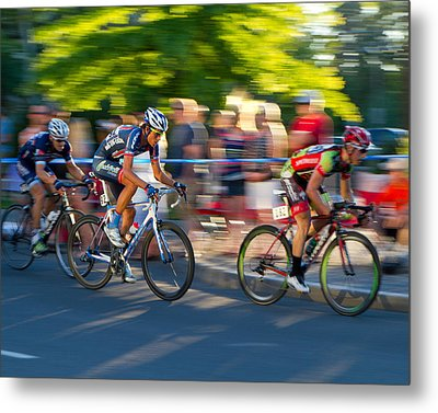 Metal Print featuring the photograph Cycling Pursuit by Kevin Desrosiers