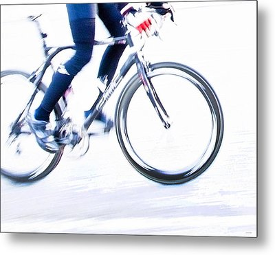 Cycling Metal Print by Theresa Tahara
