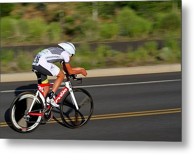 Metal Print featuring the photograph Cycling Time Trial by Kevin Desrosiers