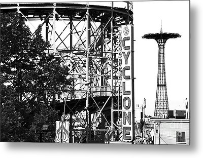 Cyclone At Coney Island Metal Print by John Rizzuto