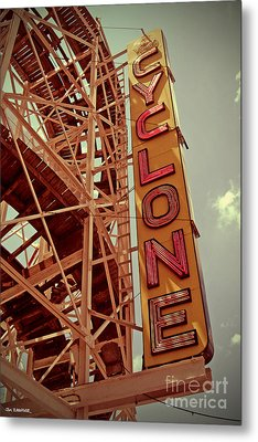 Cyclone Roller Coaster - Coney Island Metal Print by Jim Zahniser