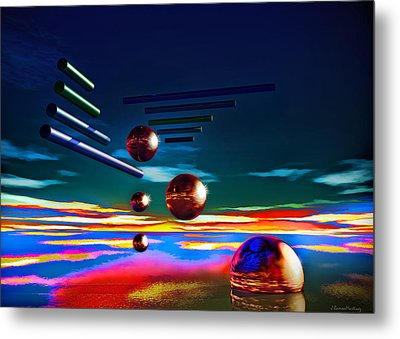 Cylinders And Spheres Metal Print by Ramon Martinez