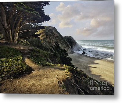Cypress Beach Metal Print