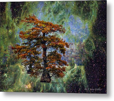 Metal Print featuring the digital art Cypress In All Its Glory by J Larry Walker