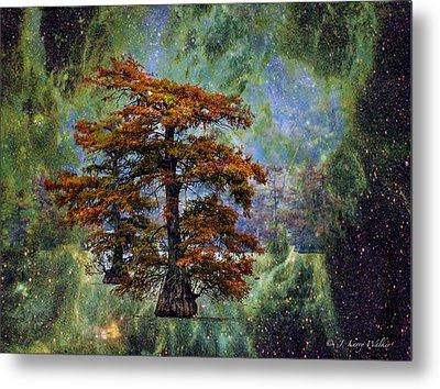 Cypress In All Its Glory Metal Print by J Larry Walker