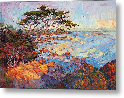 Metal Print featuring the painting Cypress Mosaic by Erin Hanson