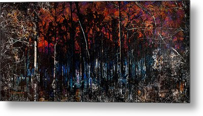 Cypress Swamp Abstract #1 Metal Print