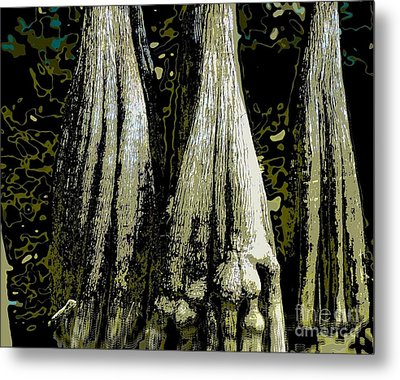 Metal Print featuring the photograph Cypress Three by Sally Simon