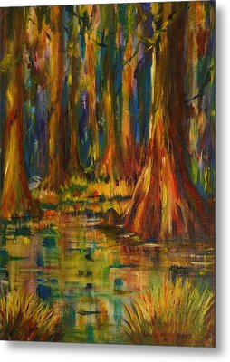Cypress Trees Metal Print by Dorothy Allston Rogers