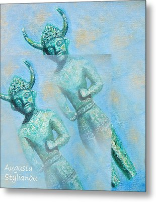 Cyprus Gods Of Trade. Metal Print by Augusta Stylianou