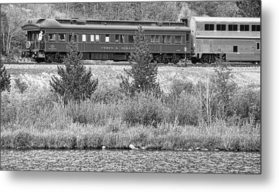 Cyrus K  Holliday Private Rail Car Bw Metal Print by James BO  Insogna
