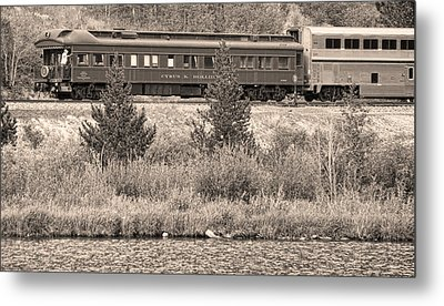 Cyrus K  Holliday Private Rail Car Bw Sepia Metal Print by James BO  Insogna