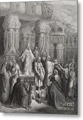 Cyrus Restoring The Vessels Of The Temple Metal Print