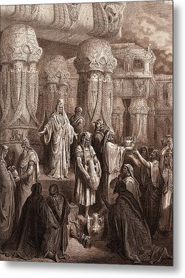Cyrus Restoring The Vessels Of The Temple Metal Print by Litz Collection