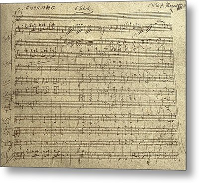 Czech Republic Prague Symphony No. 38 In D Major Called Prague Symphony Metal Print by Wolfgang Amadeus Mozart
