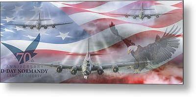 D-day 70th Anniversary Metal Print by Peter Chilelli