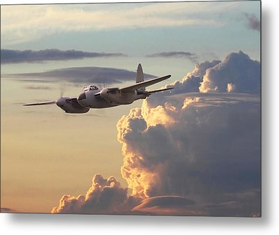 D  H Mosquito - Pathfinder Metal Print by Pat Speirs